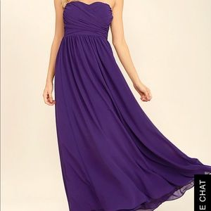 Purple chiffon long dress Lulus
